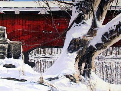Painting - Trexler Park Winter by Milan Melicharek