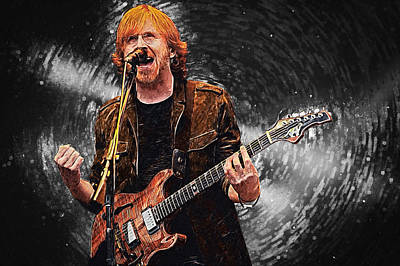 Phish Digital Art - Trey Anastasio by Taylan Apukovska