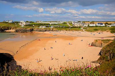 Surfer Magazine Photograph - Treyarnon Bay Beach Cornwall England Uk Cornish North  by Michael Charles
