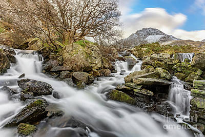 Photograph - Tryfan Mountain Rapids by Adrian Evans