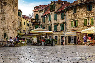 Photograph - Trg Brace Radic, Split, Croatia by Global Light Photography - Nicole Leffer