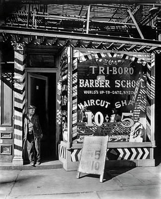 Photograph - Tri-boro Barber School by Gene Parks