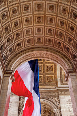 Photograph - Tri-color At Arc De Triomphe by Brian Jannsen