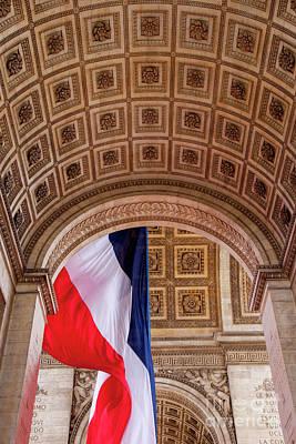 Photograph - Tri-color At Arc De Triomphe by Brian Jannsen