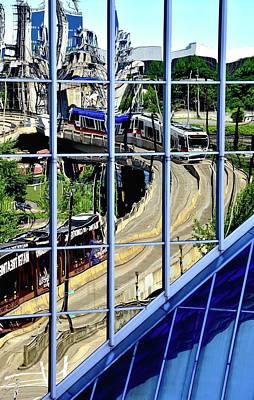 Photograph - Tri Met Steel Bridge by Jerry Sodorff