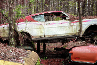 Photograph - Tri Stack Old Car Image Art by Jo Ann Tomaselli