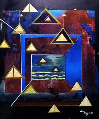 Painting - Triades by Adalardo Nunciato  Santiago