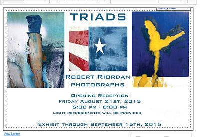 Photograph - Triads by Robert Riordan