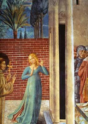 Painting - Trial By Fire Before The Sultan Detail by Gozzoli Benozzo