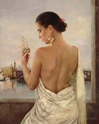 Triana  1992 Art Print by Maria Jose  Aguilar Gutierrez