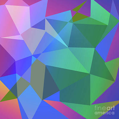Digital Art - Triangle Abstract Color by Atiketta Sangasaeng