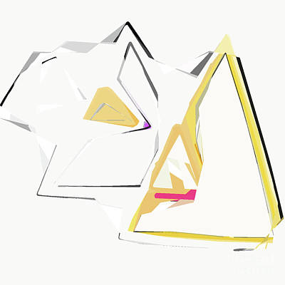 Digital Art - Triangle Abstract by Kirt Tisdale