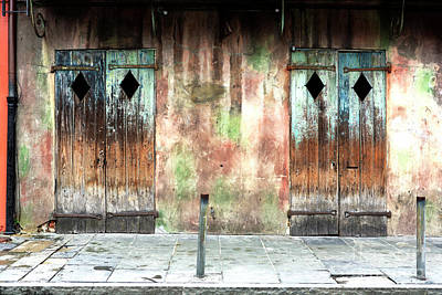 Photograph - Triangle Doors At Preservation Hall by John Rizzuto