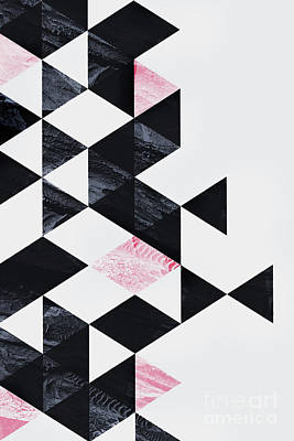 Mixed Media - Triangle Geometry by Emanuela Carratoni