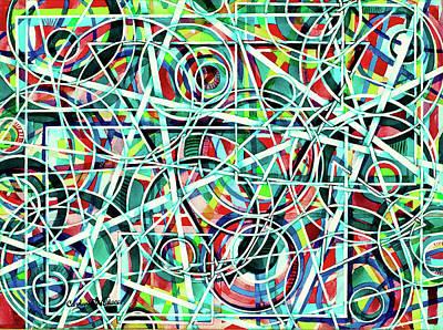 Triangle Interlacing Art Print