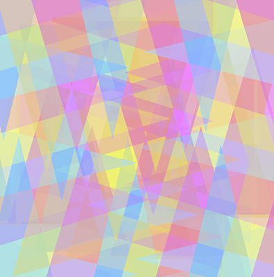 Digital Art - Triangle Jumble 2 by Shawna Rowe