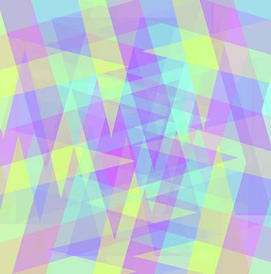 Digital Art - Triangle Jumble by Shawna Rowe