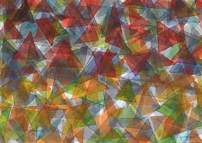 Triangle Jungle Art Print by Heidi Capitaine