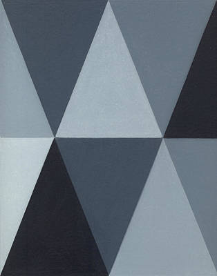 Abstract Shapes Drawing - Triangle Mini - Grey A3 by Adam Schreck