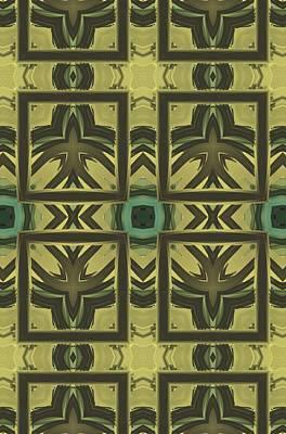 Digital Art - Square Abstract  Art by Sheila Mcdonald