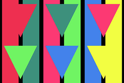 Triangle Stripe - Winter Art Print