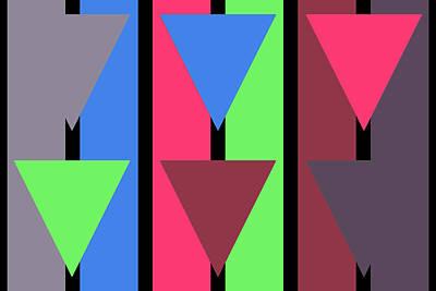 Triangle Stripe- Zentao Art Print