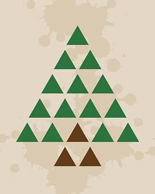 Digital Art - Triangle Tree by K Bradley Washburn