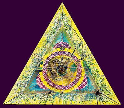 Triangle Triptych 2 Art Print by Tom Hefko