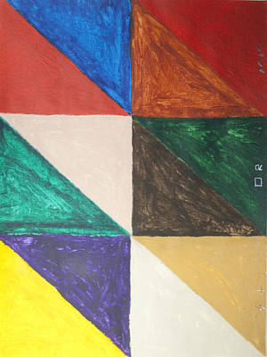 Abstract Patterns Painting - Triangle Squares by Stormm Bradshaw
