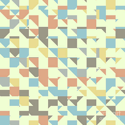 Algorithmic Digital Art - Triangles And Rectangles by Gaspar Avila