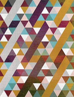 Calavera Digital Art - Triangles Circus by Francisco Valle
