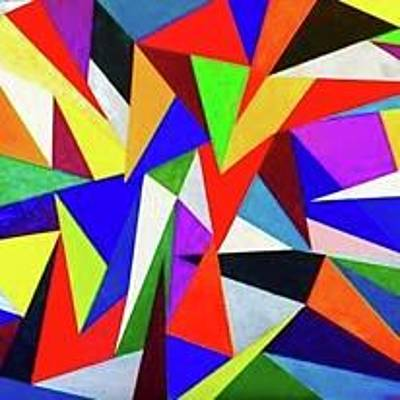 Triangles In Color Original by Sheridee Hopper