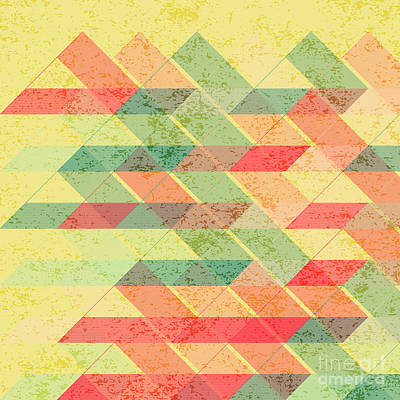 Triangles Pattern Art Print by Gaspar Avila