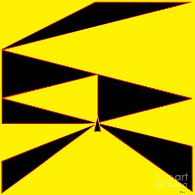 Mathematics Painting - Triangles Yellow Black And Red by Eloise Schneider