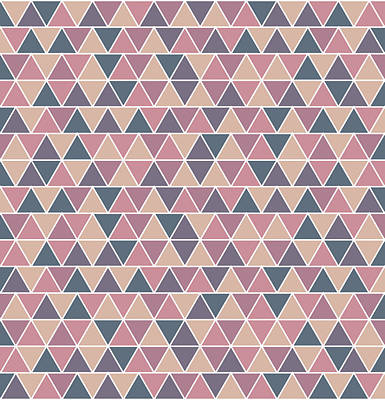 Royalty-Free and Rights-Managed Images - Triangular Geometric Pattern - Warm Colors 01 by Studio Grafiikka
