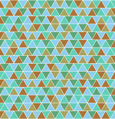 Neutral Art Mixed Media - Triangular Geometric Pattern - Warm Colors 02 by Studio Grafiikka