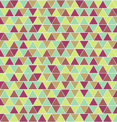 Neutral Art Mixed Media - Triangular Geometric Pattern - Warm Colors 03 by Studio Grafiikka