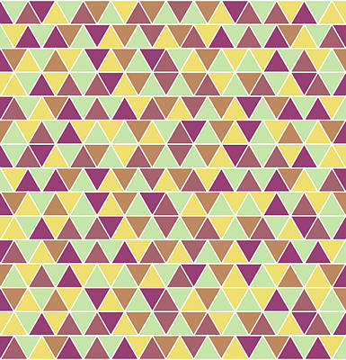 Royalty-Free and Rights-Managed Images - Triangular Geometric Pattern - Warm Colors 05 by Studio Grafiikka