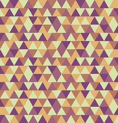 Royalty-Free and Rights-Managed Images - Triangular Geometric Pattern - Warm Colors 10 by Studio Grafiikka