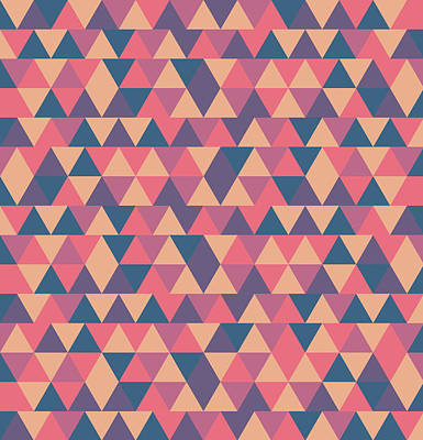 Royalty-Free and Rights-Managed Images - Triangular Geometric Pattern - Warm Colors 11 by Studio Grafiikka
