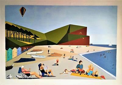 Painting - Triangular Life. Beach by Tamara Savchenko