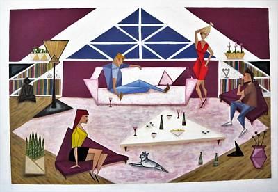 Painting - Triangular Life. Friends by Tamara Savchenko