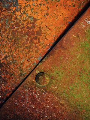 Realism Photograph - Triangular ...raw Steel by Tom Druin