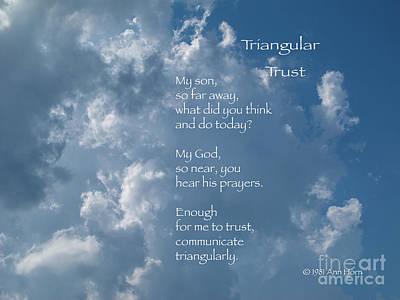 Photograph - Triangular Trust by Ann Horn
