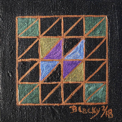 Painting - Triangulation by Donna Blackhall