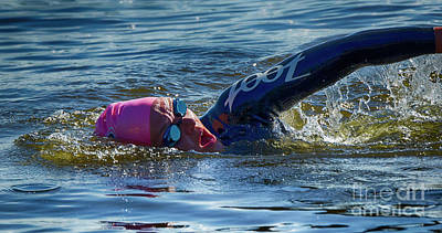 Photograph - Triathlete 3 by Bob Christopher