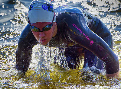 Photograph - Triathlete by Bob Christopher
