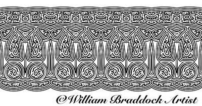 Digital Art - Tribal Border Pattern by William Braddock