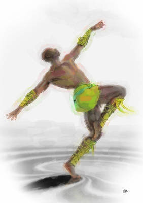 Ballet Dancers Painting - Tribal Classical Dance by Quim Abella