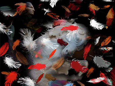 Mixed Media - Tribal Conflict by Lesa Fine